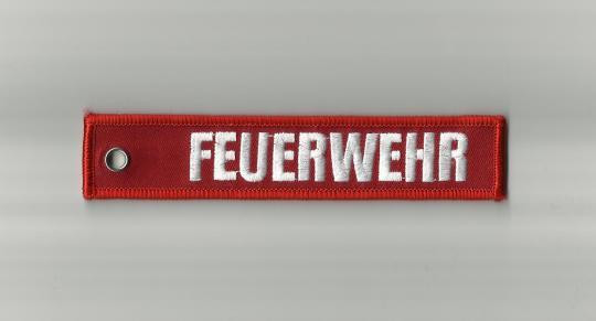Schlüsselanhänger Feuerwehr Rot
