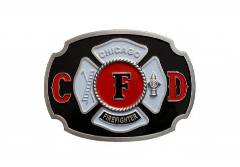 Farbige Gürtelschnalle Chicago Fire Department