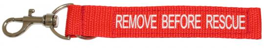 Schlüsselanhänger- Remove before Resque