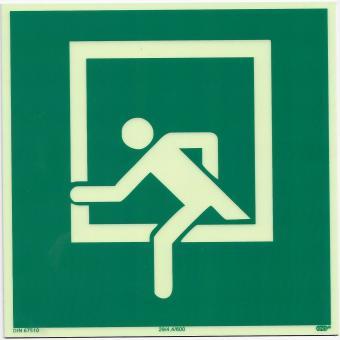 Schild Rettungsfenster D-E019
