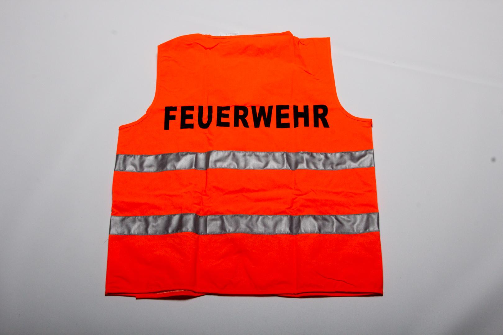 1 St/ück Warnweste FEUERWEHR Sicherheitsweste mit Druck auf R/ücken und Brust